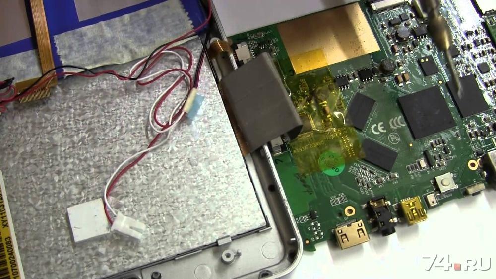 Ремонт контроллера питания планшета