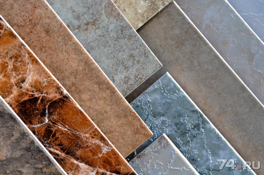 Vinyl tiles over ceramic tiles