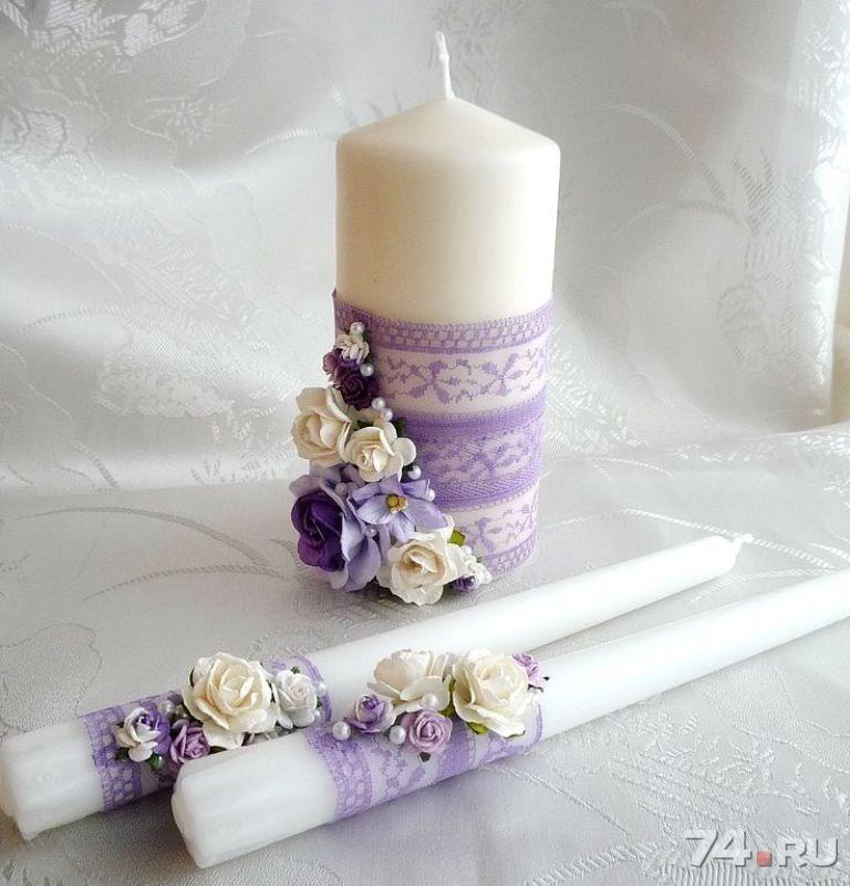 Оформление свечей своими руками фото