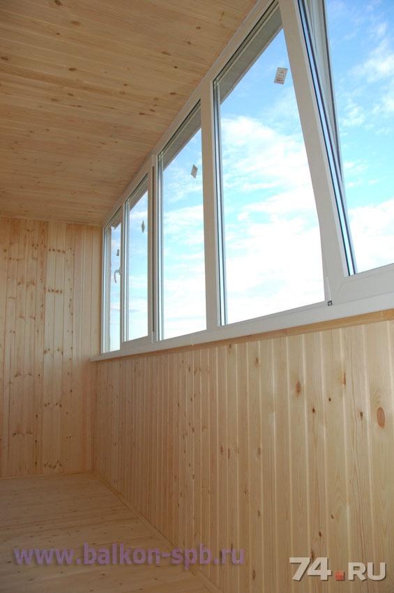 Внутренняя отделка балкона евровагонкой с утеплением в красн.