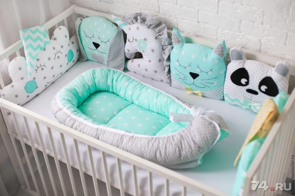 Бортики в кроватку для новорожденного своими руками 3