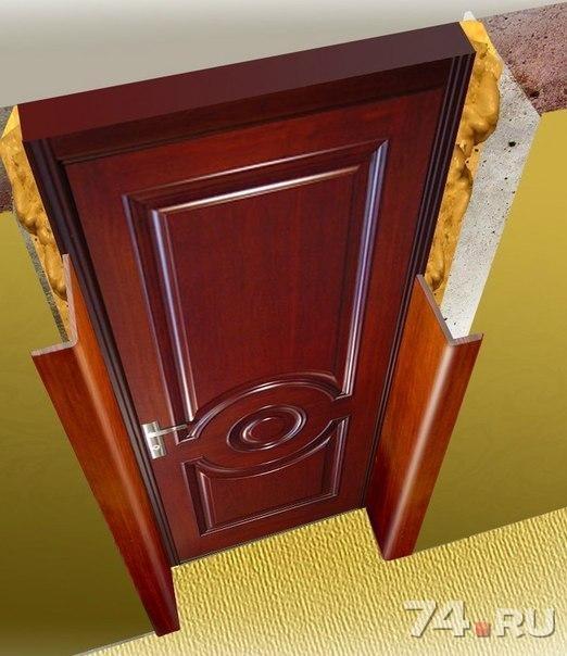 облицовка железной дверей