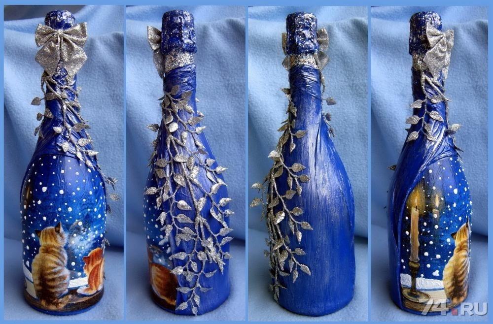 Дизайн бутылок к новому году
