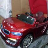 Детский электромобиль BMW красный кабриолет, Челябинск