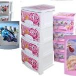 комоды пластиковые 4 ящика для детей в ассортименте, Челябинск