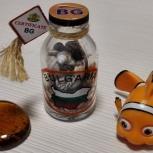 Бутылочка с ракушками рыбка немо галька, Челябинск