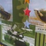 Полотенце вафельное большое с танками, Челябинск