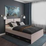 Новая двуспальная кровать 08 с ящиками, Челябинск