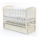 Кроватка детская белого цвета с вместительным ящиком, Челябинск