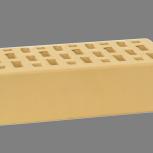 Лицевой керамический кирпич TEREX Слоновая кость гладкий облицовочный, Челябинск