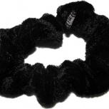 Резинка для волос большая бархатная черная, Челябинск