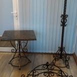 Кованный столик с гранитной столешницей, Челябинск