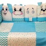 Комплект в детскую кроватку Зоопарк 17 предметов, Челябинск