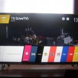 Новый Smart tv, wi-fi, dvb-t2, usb, lg 47(120см), Челябинск