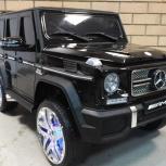 Детский электромобиль mercedes-benz g65 amg 4wd лицензия чёрный, Челябинск