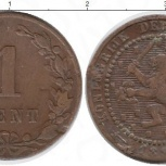 Монета Нидерланды 1 цент 1885г, Челябинск