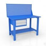Стол слесарный с экраном и ящиком вст-Н 12/тп1-Э4, Челябинск