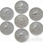 6 монет Бурунди с птицами, Челябинск