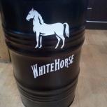 "Бочка с дизайном ""White Horse""60 л, Челябинск"