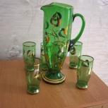 Графин  и 6 стаканов  из Чехословакии 80 годов, Челябинск