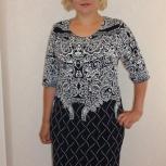 Платье трикотажное Самми (абстракция), Челябинск