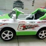 Детский электромобиль BMW с пультом д/у зелёный, Челябинск