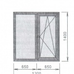 Окно стандартное в ламинации, Челябинск