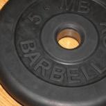 Блины Barbell MB,2шт по 5 кг, на 28 мм, Челябинск