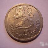 Монета 1 марка 1975г медноникелевая. состояние вф, Челябинск