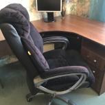 Стол письменный с замшевым креслом Chairman, Челябинск