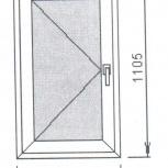 Окно пластиковое 645*1105, Челябинск
