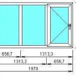 окно три створки, Челябинск
