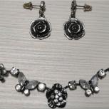 Серьги ожерелье подвеска с цепочкой, Челябинск