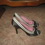 Туфли чёрные в белый горох 39р, Челябинск