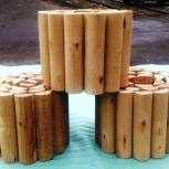 Рольбордеры  деревянные (газонные ограждения), Челябинск