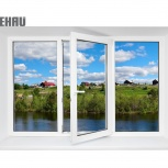 Окно ПВХ Rehau Blitz 2100х1400 (3С/3К) Поворотно-О, Челябинск