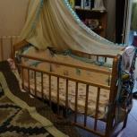 Продам кроватку детскую качалка-колесо в отличном состоянии, Челябинск