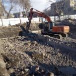 Земляные  работы, устройство котлована, Челябинск
