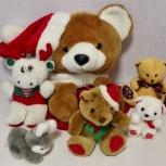 Игрушка новогодняя чулок для подарков медведь лось заяц, Челябинск