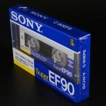 Аудиокассета Sony Super EF90 1988 год Japan, Челябинск