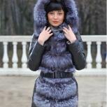 Новый пуховик  LUX кожа пух чернобурка 42р-р  рассмотрю обмен, Челябинск