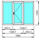 Окно трешка 1990*1500, Челябинск
