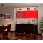 Новая кухня Ария-6, красная, Челябинск
