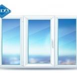 Окно ПВХ EUROLINE 2100х1400 (3С/3К) Откидное, Челябинск