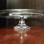 Тортовница на ножке стекло диаметр 31см, Челябинск