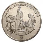 Монета 1 доллар 2014 Британские виргинские острова, Челябинск