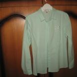 Блузка Школьная мятная, розовая и белая для девочки 146, Челябинск