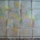 Карта Челяб.области- изд.1969 г. ( Размер 0.9 м. х 0.73 м.), Челябинск