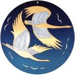 Златоустовская гравюра на стали Журавли СССР, Челябинск