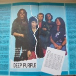 "Постер  гр. "" deep purple ""(""ровесник 1988 г.), Челябинск"